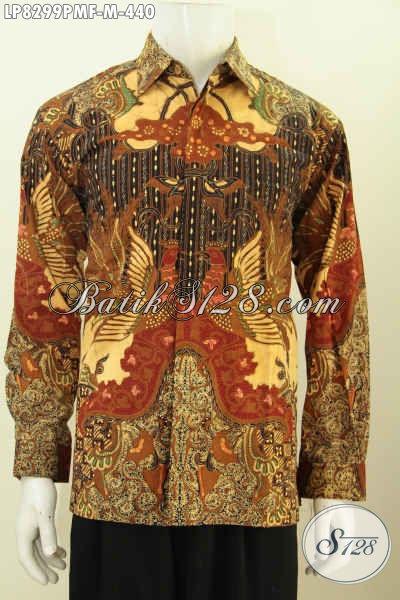 Baju Kerja Bahan Batik Klasik Kombinasi Tulis Model Lengan Panajng Full Furing Untuk Pria Muda Harga 440K Tampil Lebih Mempesona [LP8299PMF-M]