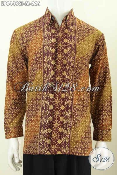 Produk Pakaian Batik Terbaru, Hem Batik Cowok Lengan Panjang Halus Berkelas Motif 2020 Proses Cap Tulis Di Jual Online 225 Ribu [LP8448CT-M]