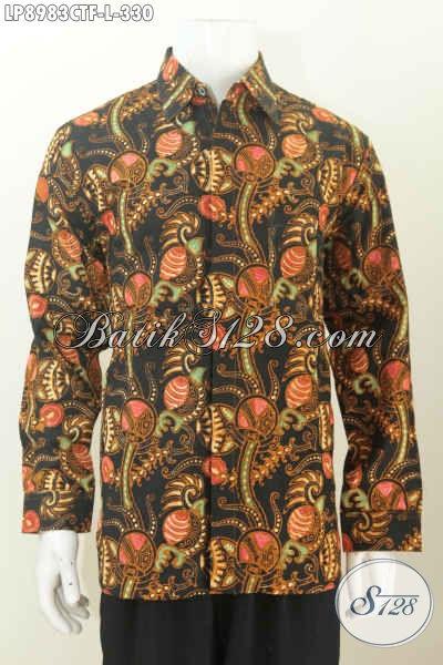 Hem Lengan Panjang Bagus Buatan Solo, Baju Batik Cap Tulis Pake Furing Untuk Kerja Dan Kondangan Harga 330K [LP8983CTF-L]