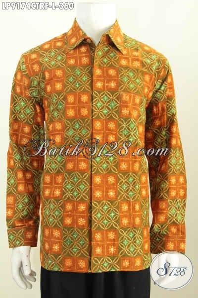 Harga Baju Batik Pria Modern Klasik, Kemeja Lengan Panjang Full Furing Motif Cap Tulis Hanya 360K [LP9174CTRF-L]