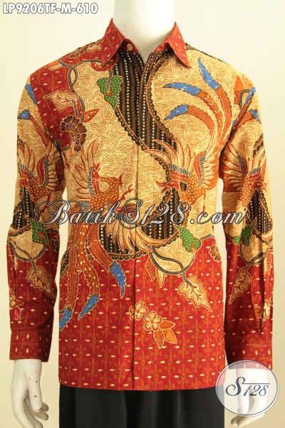 Batik Mewah Kesukaan Pejabat, Baju Batik Kerja Premium Eksekutif, Kemeja Batik Tulis Lengan Panjang Motif Terbaru, Biki Penampilan Lebih Sempurna [LP9206TF-M]