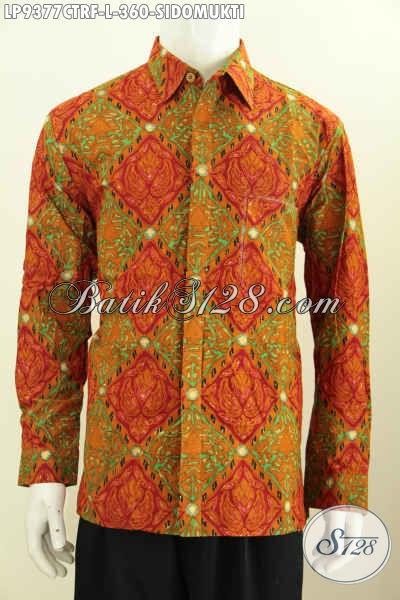 Toko Baju Batik Solo Online, Jual Hem Lengan Panjang Klasik Full Furing Motif Sidomukti Cap Tulis, Cocok Untuk Acara Resmi [LP9377CTRF-L]