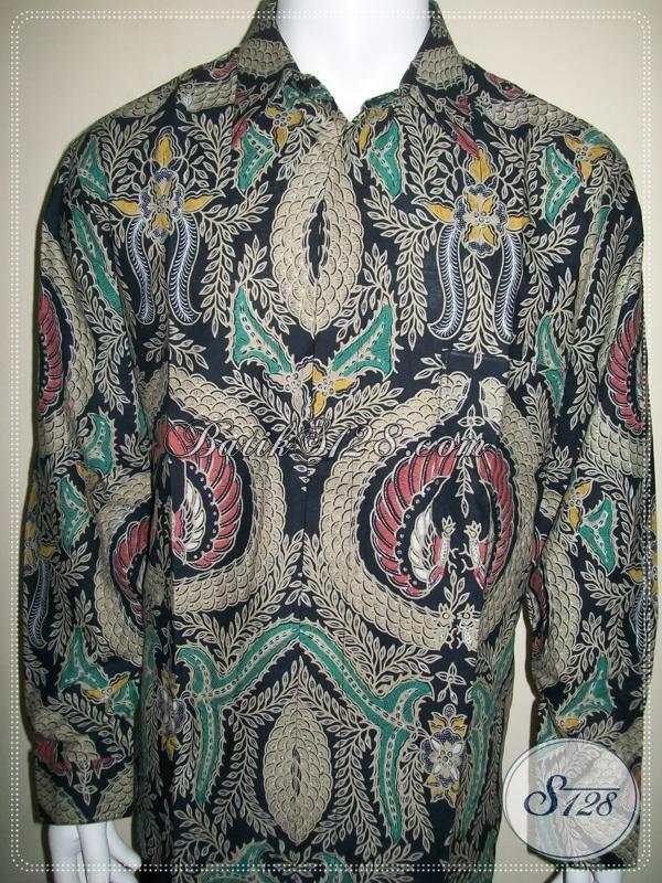 Batik Klasik Pria Lengan Panjang, Corak Babon Angkrem [LP971BT-XL]