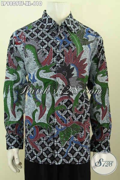 Baju Batik Lengan Panjang Full Furing Motif Klasik Tulis Asli Yang Bikin Pria Dewasa Terlihat Gagah Mempesona [LP9809TF-XL]