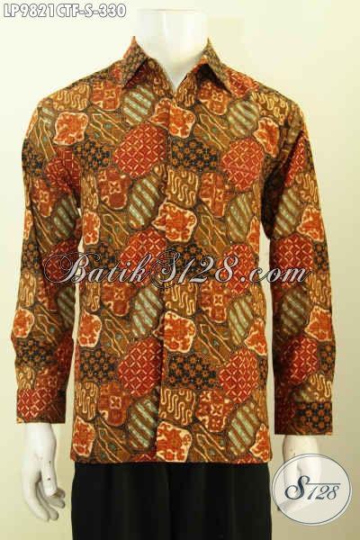 Tempat Belanja Baju Batik Online Terlengkap, Sedia Hem Batik Pria Full Furing Lengan Panjang Bahan Adem Motif Bagus Proses Cap Tulis Harga 330K [LP9821CTF-S]