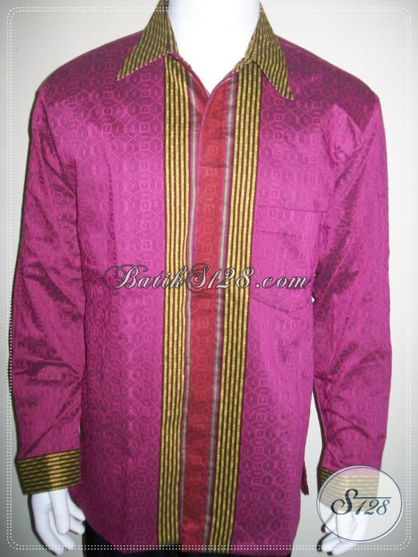 Baju Tenun Pria Lengan Panjang Bagus Ukuran XL, Murah Berkwalitas [LP983NF-XL]
