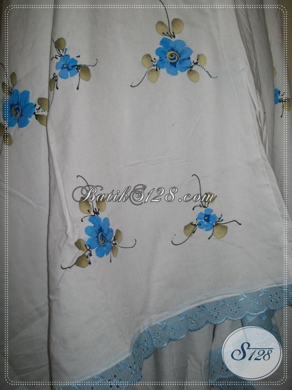 Mukena Bunga Tabur Warna Biru, Mukena Solo Online [MBS001-Biru]