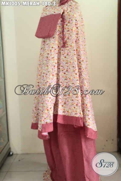 Produk Terbaru Mukena Batik Perempuan Dewasa, Hadir Dengan Warna Merah Keren Nan Elegan Berbahan Katun Jepang Dengan Motif Trendy Kwalitas halus Yang Nyaman Di Pakai Tiap Hari [MKJ005-Dewasa]