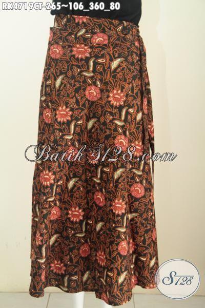 Rok Batik Modis Model Lilit Proses Cap Tulis, Baju Bawahan Wanita Desain Istimewa Bahan Adem Harga 260 Ribuan [RK4719CT-All Size]
