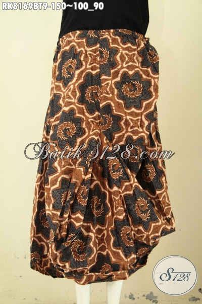 Model Rok Batik Aladin Motif Klasik, Busana Batik Kombinasi Tulis Desain Keren Dengan Karet Pinggang Dan Tali Serta 2 Kantong, Tampil Modis Dan Keren [RK8169BT-All Size]