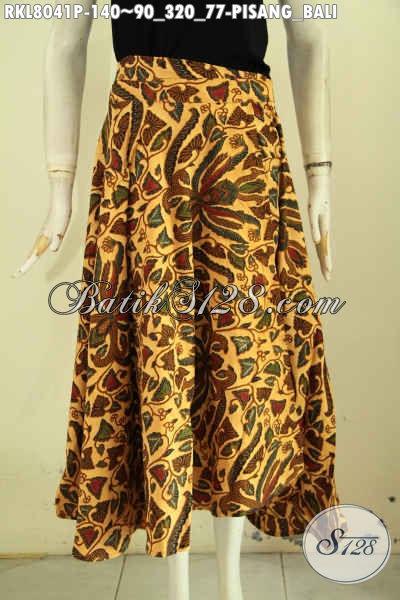 Jual Rok Batik Solo Elegan Motif Pisang Bali Proses Printing Harga 140K, Busana Batik Modis Model Lilit Dan Bertali, Tampil Makin Trendy [RKL8041P-All Size]